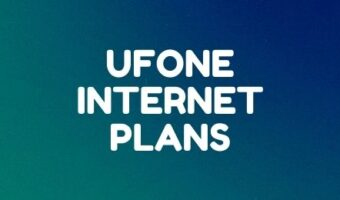 Ufone daily, weekly and monthly internet packages